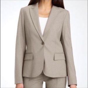 Theory Blazer One Button Tan Cotton Stretc…